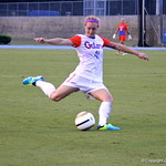 Senior Taylor Travis kicking the ball during the Gators' 3-0 loss to the Florida State Seminoles on Friday, August 30, 2013 at James G. Pressly Stadium in Gainesville, Fla. / Gator Country photo by Danielle Bloch