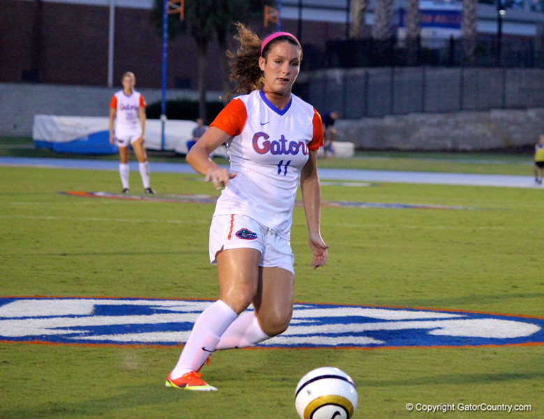 Freshman Brooke Sharp during the Gators' 3-0 loss to the Florida State Seminoles on Friday, August 30, 2013 at James G. Pressly Stadium in Gainesville, Fla. / Gator Country photo by Danielle Bloch