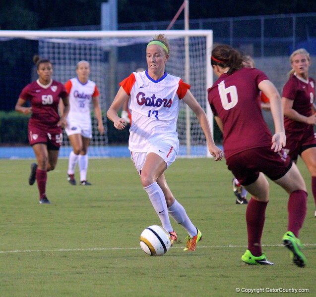 Junior Annie Speese during the Gators' 3-0 loss to the Florida State Seminoles on Friday, August 30, 2013 at James G. Pressly Stadium in Gainesville, Fla. / Gator Country photo by Danielle Bloch