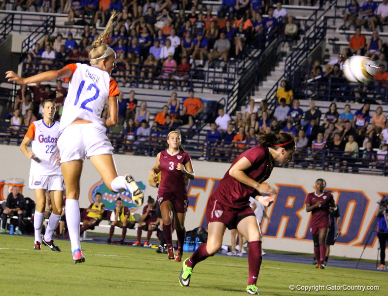 Lindsey Cooper during the Gators' 3-0 loss to the Florida State Seminoles on Friday, August 30, 2013 at James G. Pressly Stadium in Gainesville, Fla. / Gator Country photo by Danielle Bloch