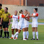 Team introductions at the start of the Gators' 3-0 loss to the Florida State Seminoles on Friday, August 30, 2013 at James G. Pressly Stadium in Gainesville, Fla. / Gator Country photo by Danielle Bloch