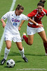 photo by Casey Brooke Lawson<br /> <br /> Florida freshman midfielder/defender Sarah Chapman controls the ball during the Gators' 2-1 win against the Kansas Jayhawks on Sunday, September 21, 2008 at James G. Pressly Stadium in Gainesville, Fla.