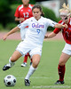 photo by Casey Brooke Lawson<br /> <br /> Florida freshman midfielder Tahnai Annis fights for position during the Gators' 2-1 win against the Kansas Jayhawks on Sunday, September 21, 2008 at James G. Pressly Stadium in Gainesville, Fla.