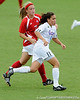 photo by Casey Brooke Lawson<br /> <br /> Florida freshman midfielder Tahnai Annis runs upfield during the Gators' 2-1 win against the Kansas Jayhawks on Sunday, September 21, 2008 at James G. Pressly Stadium in Gainesville, Fla.