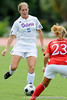 photo by Casey Brooke Lawson<br /> <br /> Florida junior defender Lauren Hyde looks to pass during the Gators' 2-1 win against the Kansas Jayhawks on Sunday, September 21, 2008 at James G. Pressly Stadium in Gainesville, Fla.