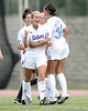 Florida senior defender Lauren Hyde reacts after scoring her first collegiate goal during the Gators' 2-1 win against the South Florida Bulls on Sunday, August 30, 2009 at James G. Pressly Stadium in Gainesville, Fla / Gator Country photo by Tim Casey