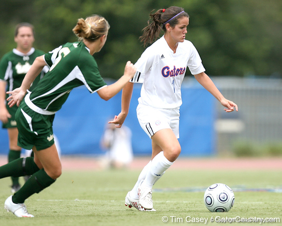 during the Gators' 2-1 win against the South Florida Bulls on Sunday, August 30, 2009 at James G. Pressly Stadium in Gainesville, Fla / Gator Country photo by Tim Casey