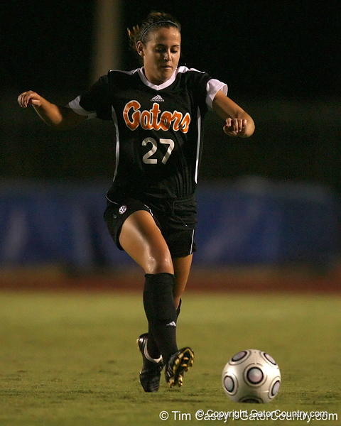 during the Gators' 1-0 overtime loss to the Florida State Seminoles on Friday, September 18, 2009 at James G. Pressly Stadium in Gainesville, Fla. / Gator Country photo by Tim Casey