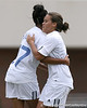 photo by Tim Casey<br /> <br /> Florida freshman midfielder Tahnai Annis congratulates Florida senior midfielder/forward Ameera Abdullah for scoring a goal during the Gators' 5-1 win against the Tennessee Lady Volunteers on Sunday, September 28, 2008 at James G. Pressly Stadium in Gainesville, Fla.