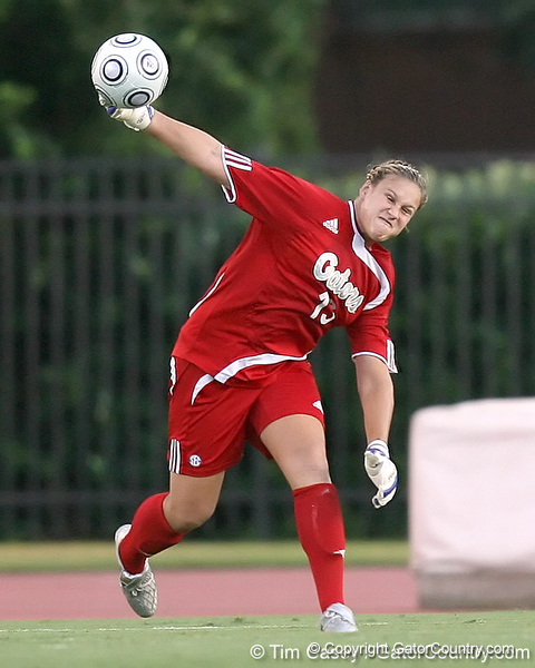 during the Gators' 3-0 win against the Florida International Golden Panthers on Friday, August 28, 2009 at James G. Pressly Stadium in Gainesville, Fla / Gator Country photo by Tim Casey