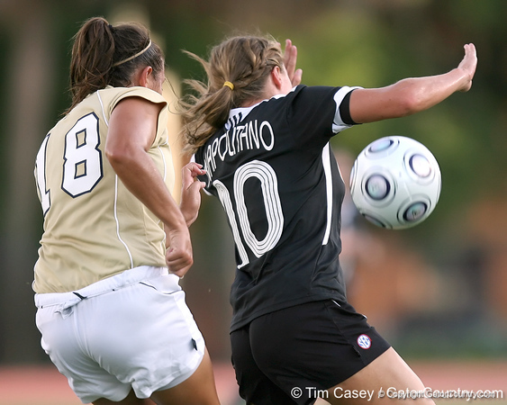 Florida senior forward/midfielder Angela Napolitano controls the ball during the Gators' 3-0 win against the Florida International Golden Panthers on Friday, August 28, 2009 at James G. Pressly Stadium in Gainesville, Fla / Gator Country photo by Tim Casey