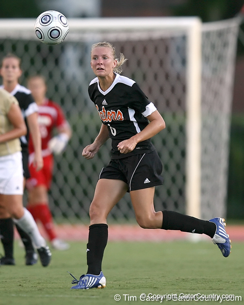 Florida senior midfielder Jessica Eicken runs for the ball during the Gators' 3-0 win against the Florida International Golden Panthers on Friday, August 28, 2009 at James G. Pressly Stadium in Gainesville, Fla / Gator Country photo by Tim Casey