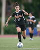 Florida freshman midfielder Erika Tymrak runs with the ball during the Gators' 3-0 win against the Florida International Golden Panthers on Friday, August 28, 2009 at James G. Pressly Stadium in Gainesville, Fla / Gator Country photo by Tim Casey