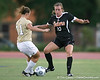 Florida senior forward/midfielder Angela Napolitano fights for the ball during the Gators' 3-0 win against the Florida International Golden Panthers on Friday, August 28, 2009 at James G. Pressly Stadium in Gainesville, Fla / Gator Country photo by Tim Casey