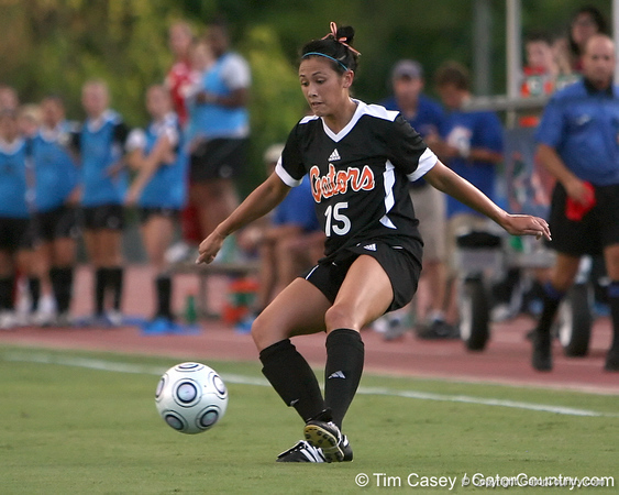 Florida junior defender Nicky Kit passes the ball during the Gators' 3-0 win against the Florida International Golden Panthers on Friday, August 28, 2009 at James G. Pressly Stadium in Gainesville, Fla / Gator Country photo by Tim Casey