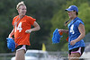 photo by Tim Casey<br /> <br /> Melanie Booth and Shana Hudson during the first half of the Gators' 3-0 win against the Mississippi State Bulldogs on Sunday, October 12, 2008 at James G. Pressly Stadium in Gainesville, Fla.