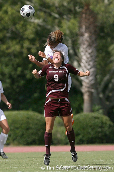 photo by Tim Casey<br /> <br /> Florida freshman defender Jazmyne Avant during the second half of the Gators' 3-0 win against the Mississippi State Bulldogs on Sunday, October 12, 2008 at James G. Pressly Stadium in Gainesville, Fla.