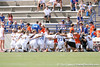 photo by Tim Casey<br /> <br /> The Florida soccer team huddles before the first half of the Gators' 3-0 win against the Mississippi State Bulldogs on Sunday, October 12, 2008 at James G. Pressly Stadium in Gainesville, Fla.