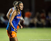 Florida senior forward/midfielder Lindsay Thompson shouts to a teammate during the Gators' Orange & Blue Scrimmage on Friday, August 12, 2011 at the UF Lacrosse/Soccer Facility in Gainesville, Fla. / Gator Country photo by Tim Casey