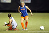 Florida senior forward/midfielder Lindsay Thompson follows the ball during the Gators' Orange & Blue Scrimmage on Friday, August 12, 2011 at the UF Lacrosse/Soccer Facility in Gainesville, Fla. / Gator Country photo by Tim Casey