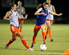 Florida freshman midfielder Jennifer Larrick runs with the ball during the Gators' Orange & Blue Scrimmage on Friday, August 12, 2011 at the UF Lacrosse/Soccer Facility in Gainesville, Fla. / Gator Country photo by Tim Casey