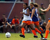 Florida senior defender Jazmyne Avant dribbles the ball during the Gators' Orange & Blue Scrimmage on Friday, August 12, 2011 at the UF Lacrosse/Soccer Facility in Gainesville, Fla. / Gator Country photo by Tim Casey