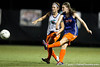 Florida freshman midfielder Jennifer Larrick passes the ball during the Gators' Orange & Blue Scrimmage on Friday, August 12, 2011 at the UF Lacrosse/Soccer Facility in Gainesville, Fla. / Gator Country photo by Tim Casey