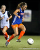 Florida senior forward/midfielder Lindsay Thompson corrals the ball during the Gators' Orange & Blue Scrimmage on Friday, August 12, 2011 at the UF Lacrosse/Soccer Facility in Gainesville, Fla. / Gator Country photo by Tim Casey