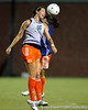 Florida junior midfielder Holly King heads the ball during the Gators' Orange & Blue Scrimmage on Friday, August 12, 2011 at the UF Lacrosse/Soccer Facility in Gainesville, Fla. / Gator Country photo by Tim Casey