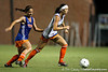 Florida junior midfielder/forward Erika Tymrak dribbles the ball during the Gators' Orange & Blue Scrimmage on Friday, August 12, 2011 at the UF Lacrosse/Soccer Facility in Gainesville, Fla. / Gator Country photo by Tim Casey