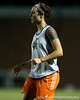 Florida sophomore forward Taylor Travis watches the ball during the Gators' Orange & Blue Scrimmage on Friday, August 12, 2011 at the UF Lacrosse/Soccer Facility in Gainesville, Fla. / Gator Country photo by Tim Casey