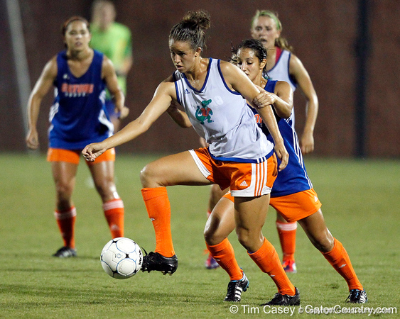 during the Gators' Orange & Blue Scrimmage on Friday, August 12, 2011 at the UF Lacrosse/Soccer Facility in Gainesville, Fla. / Gator Country photo by Tim Casey