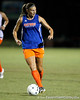 Florida senior forward/midfielder Lindsay Thompson looks to pass during the Gators' Orange & Blue Scrimmage on Friday, August 12, 2011 at the UF Lacrosse/Soccer Facility in Gainesville, Fla. / Gator Country photo by Tim Casey