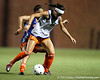 Florida junior midfielder/forward Erika Tymrak battles for the ball during the Gators' Orange & Blue Scrimmage on Friday, August 12, 2011 at the UF Lacrosse/Soccer Facility in Gainesville, Fla. / Gator Country photo by Tim Casey