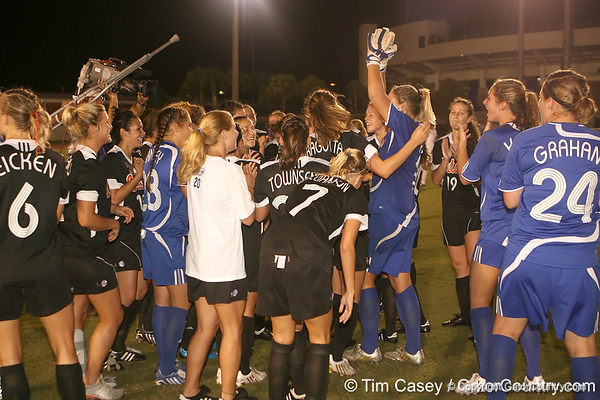 during the Gators' 3-0 win against South Carolina on Friday, October 30, 2009 at James G. Pressly Stadium in Gainesville, Fla. UF clinched the SEC championship with the victory. / Gator Country photo by Tim Casey