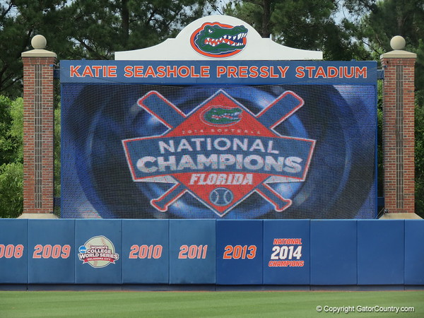 Gator Softball National Championship ceremony
