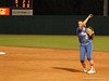 Second Baseman Katie Medina throws out UGA batter