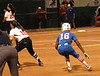 Michelle Moultrie gets a running lead from 1st Base