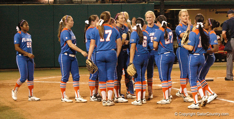 Gator team prepares to go on offense in the 3rd Inning