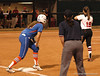 Kelsey Horton prepares to advance after reaching 1st Base as Florida's first base runner