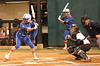 Michelle Moultrie steps into the batter's box for her first at bat