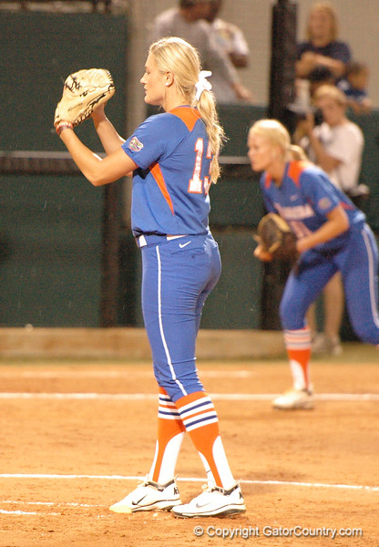 Hannah Rogers is set to deliver the pitch in the 3rd Inning