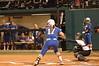 Lauren Haeger bats in the first inning