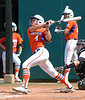 Jessica Damico bats in the 7th inning