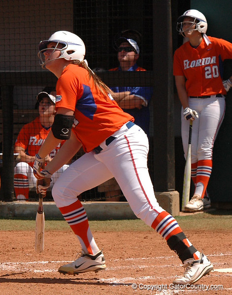 Lauren Haeger starts her trip around the bases after the 2nd Gator Homerun of the 4th Inning