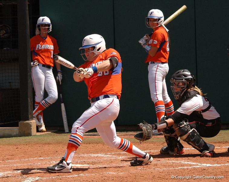 Bailey Castro hits away