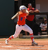 Kelsey Horton sees her hit land safely in the UGA outfield