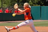 Hannah Rogers in the wind-up as she delivers a pitch