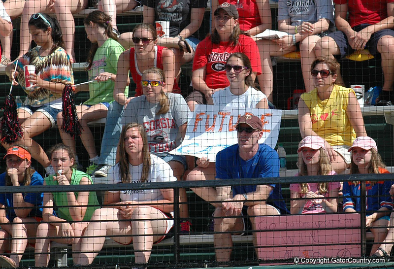 """Future Gator"" fan was in attendance enjoying the Gator victory"
