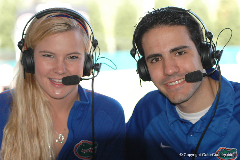Gator great, Megan Bush was on hand to provide the radio audience with play-by-play commentary.